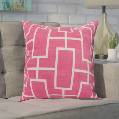 Carmack Throw Pillow Color: Pink, Size: 26 x 26