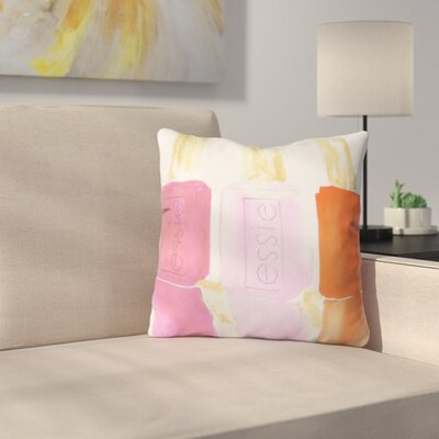 Essie by Laura Trevey Throw Pillow Size: 26 H x 26 W x 7 D, Color: Pink