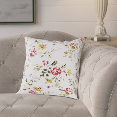 Jude Cotton Pillow Cover Color: Red/Yellow/White