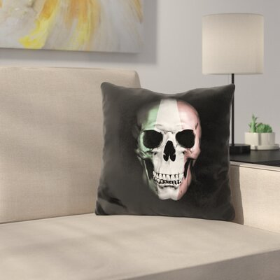 Italian Skull Throw Pillow