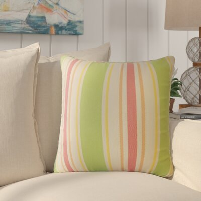 Jolana Striped Down Filled Throw Pillow Size: 18 x 18, Color: Tropique