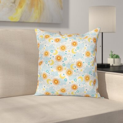 Suns and Moons Pillow Cover Size: 18 x 18