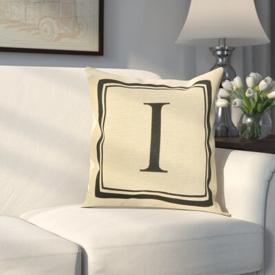 Beaver Creek Monogram Throw Pillow Letter: I
