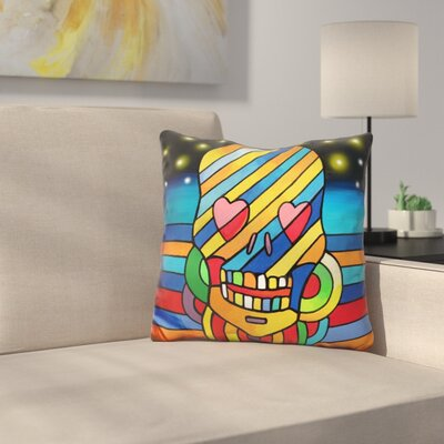 Skull Stripes Throw Pillow