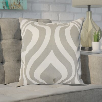 Brock 100% Cotton Throw Pillow Color: Gray, Size: 18 H x 18 W