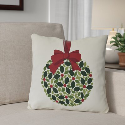 Mistletoe Me Throw Pillow Size: 18 H x 18 W, Color: Cream