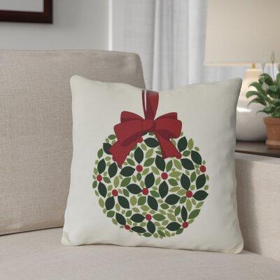 Mistletoe Me Throw Pillow Size: 16 H x 16 W, Color: Cream
