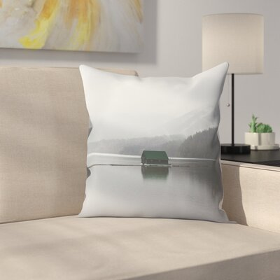 Luke Gram Capilano Lake Vancouver Throw Pillow Size: 14 x 14
