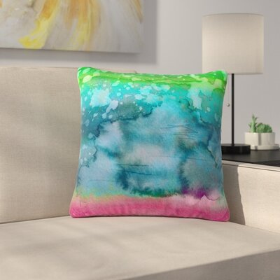 Ebi Emporium California Surf Outdoor Throw Pillow Size: 18 H x 18 W x 5 D, Color: Blue/Pink