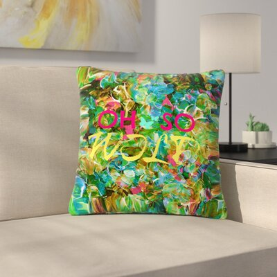 Ebi Emporium Oh So Wild Outdoor Throw Pillow Size: 16 H x 16 W x 5 D