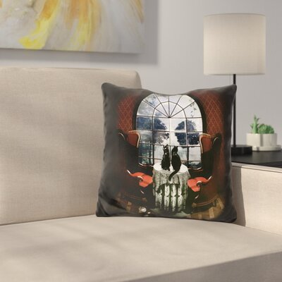 Room Skull Throw Pillow