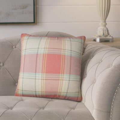 Florian Plaid Cotton Throw Pillow
