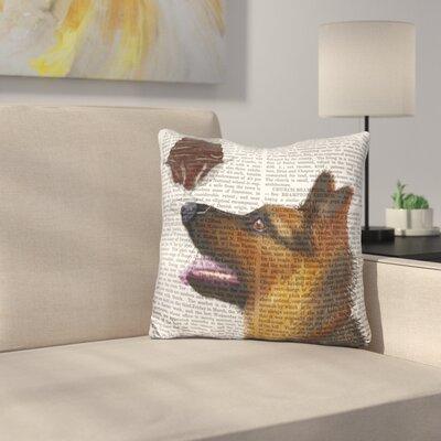German Shepherd Ice Cream Throw Pillow