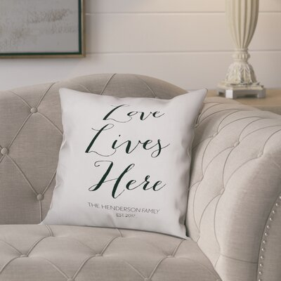 Jaycee Love Lives Here Script Throw Pillow