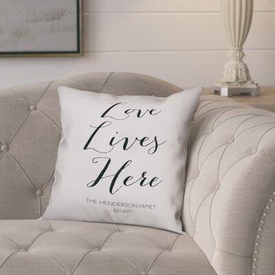 Jaycee Love Lives Here Script Throw Pillow