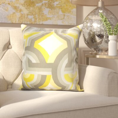 Westerlo 100% Cotton Throw Pillow Color: Dandelion, Size: 18 H x 18 W