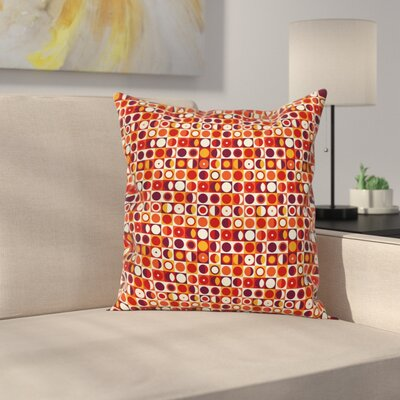 Retro Moon Inspired Abstract Square Pillow Cover Size: 18 x 18