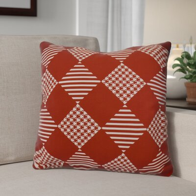 Decorative Geometric Throw Pillow Size: 26 H x 26 W, Color: Red