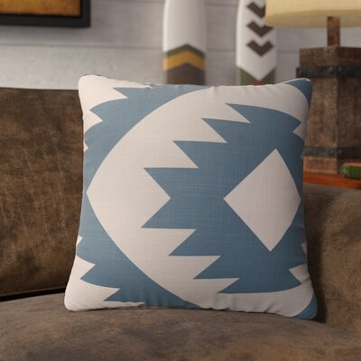 Lewallen Throw Pillow Size: 18 x 18, Color: Tan/Blue/Gray