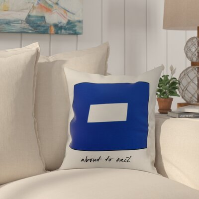 Crider P Phrase Text Word Print Indoor/Outdoor Throw Pillow Size: 18 x 18