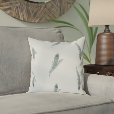 Arlo Feather Floral Outdoor Throw Pillow Size: 16 H x 16 W, Color: Green