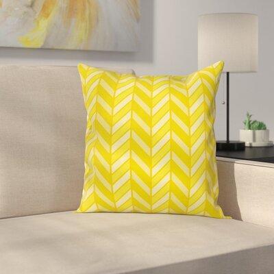 Chevron Vertical Retro Square Cushion Pillow Cover Size: 16 x 16