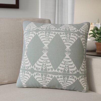 Roi Graphic Cotton Throw Pillow Color: Light  Gray