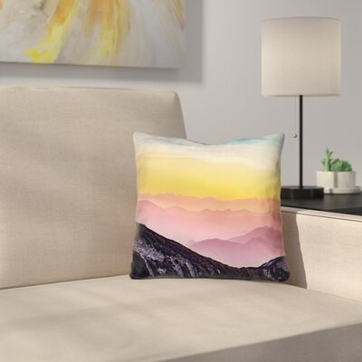 Thang Pastel Landscape Double Sided Print Square Pillow Cover Size: 18 x 18