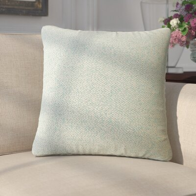 Merlyn Solid Throw Pillow Color: Teal