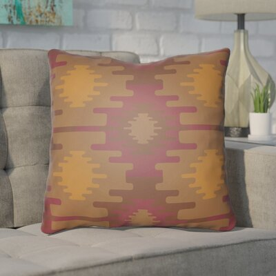 Adamson Square Throw Pillow Size: 18 H x 18 W x 3.5 D, Color: Dark Red