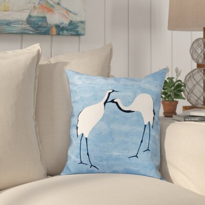 Boubacar Stilts Animal Print Outdoor Throw Pillow Size: 18 H x 18 W, Color: Blue