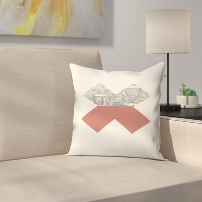 Cross Throw Pillow Size: 18 x 18