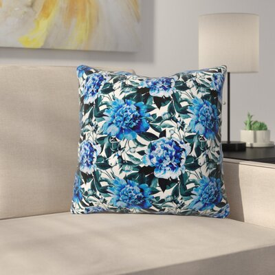 Marta Barragan Camarasa Floral Throw Pillow Size: 18 x 18