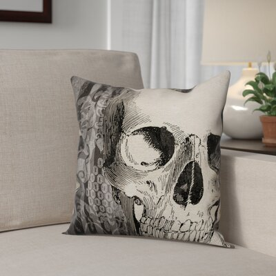 Skeletons Head Throw Pillow Pillow Use: Outdoor