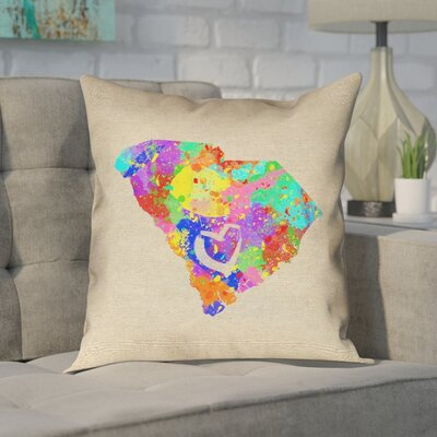 Chaput South Carolina Love Watercolor Pillow