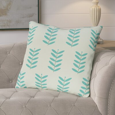 Arnaud Floral Print Outdoor Pillow Color: Teal, Size: 16 H x 16 W x 1 D