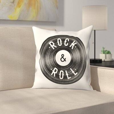 Florent Bodart  Rock Roll Throw Pillow Size: 16 x� 16