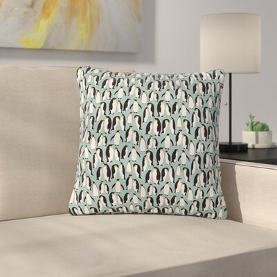 Mayacoa Studio Penguin Colony Outdoor Throw Pillow Size: 18 H x 18 W x 5 D