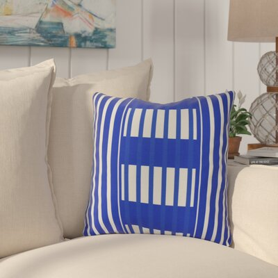 Bartow Beach Blanket Outdoor Throw Pillow Size: 18 H x 18 W x 3 D, Color: Blue