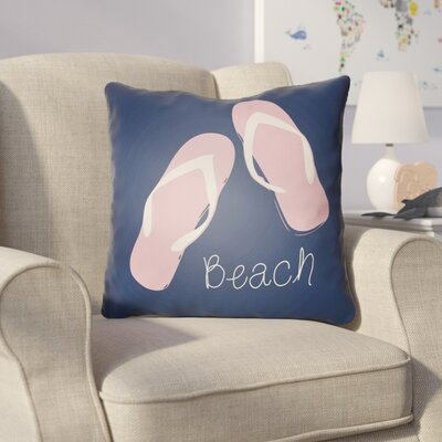 Collie B?ach Throw Pillow Size: 18 H x 18 W x 4 D, Color: Navy