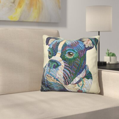 Boxer Portrait Throw Pillow