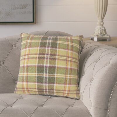 Tschaenn Plaid Throw Pillow Color: Yellow
