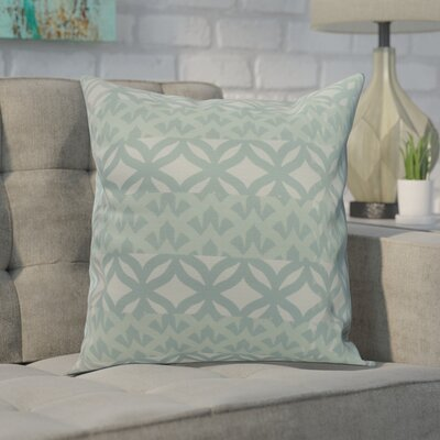 Carmean Throw Pillow Color: Aqua, Size: 18 x 18