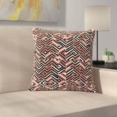 Dawis Roc Maze Geometric Abstract 1 Outdoor Throw Pillow Size: 18 H x 18 W x 5 D