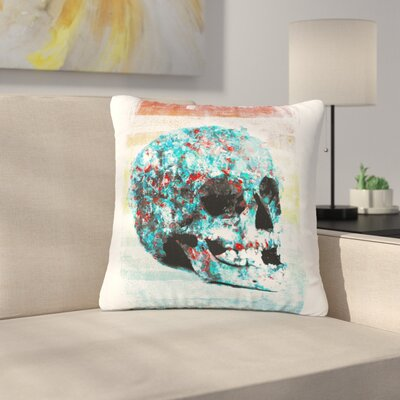 Frederic Levy-Hadida Floral Skully 2 Outdoor Throw Pillow Size: 18 H x 18 W x 5 D