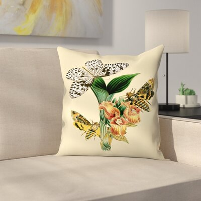 Dhm Throw Pillow Size: 18 x 18, Color: Yellow