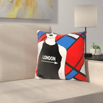 London This Way Throw Pillow