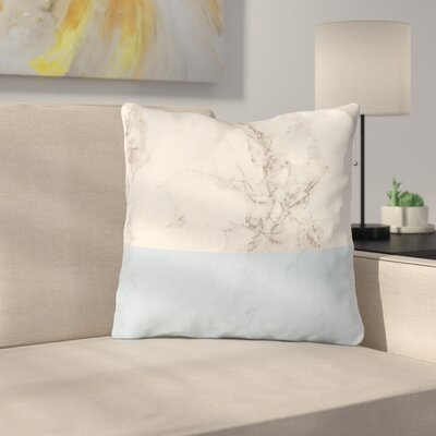 Marble by Suzanne Carter Throw Pillow Size: 26 H x 26 W x 4 D, Color: Blue