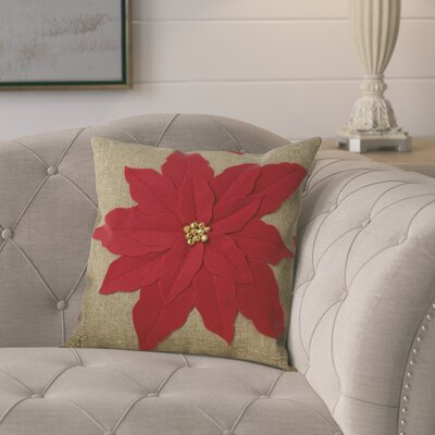 Savanah Throw Pillow Color: Red
