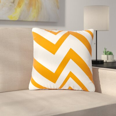 NL Designs ZigZag Outdoor Throw Pillow Size: 18 H x 18 W x 5 D, Color: Orange